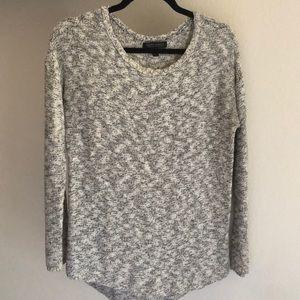 Heathered gray sweater